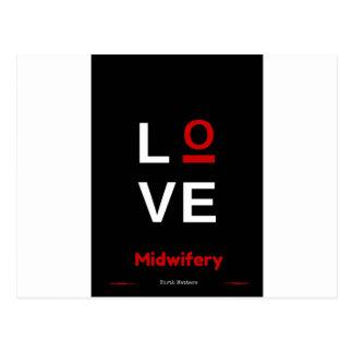 I love Midwifery Postcard