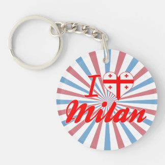 I Love Milan Georgia Acrylic Keychains