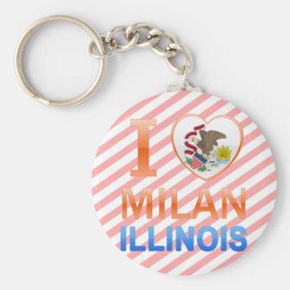 I Love Milan IL Key Chain
