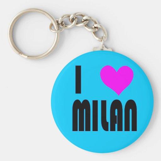 I Love Milan Italy keychain