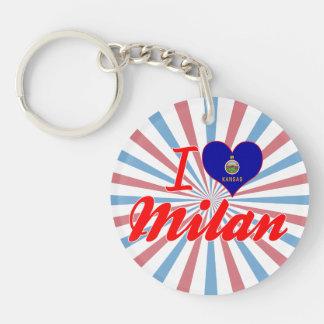 I Love Milan, Kansas Key Chain