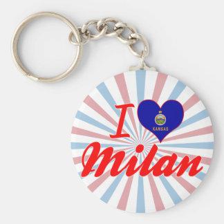 I Love Milan, Kansas Key Chains