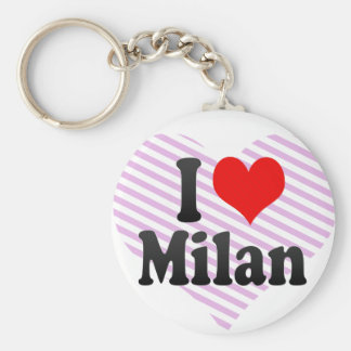I love Milan Key Chains
