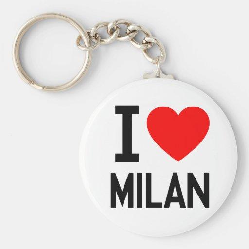 I Love Milan Keychains