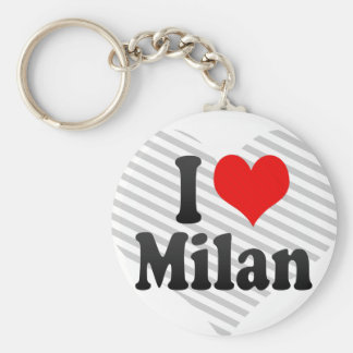I love Milan Keychain