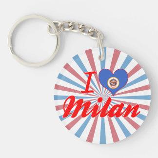 I Love Milan, Minnesota Key Chains