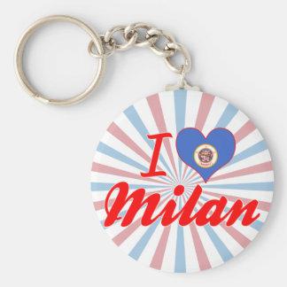 I Love Milan Minnesota Key Chains