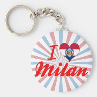 I Love Milan, Missouri Keychains