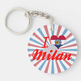 I Love Milan Missouri Acrylic Keychains