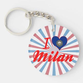 I Love Milan, New Hampshire Key Chain