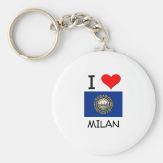 I Love Milan New Hampshire Basic Round Button Key Ring
