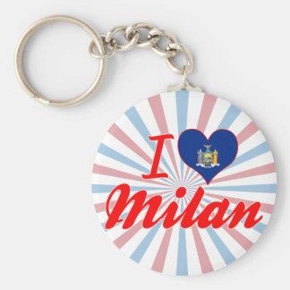 I Love Milan New York Keychain