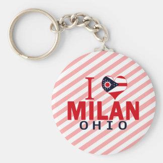 I love Milan Ohio Key Chains