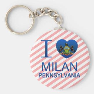 I Love Milan PA Key Chains