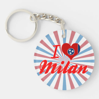 I Love Milan Tennessee Acrylic Key Chains