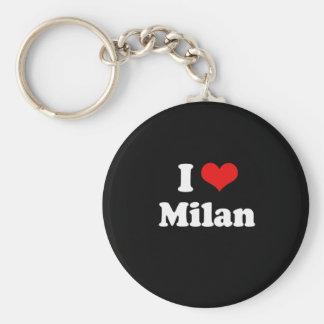 I Love Milan Tshirt White Tshirt Key Ring