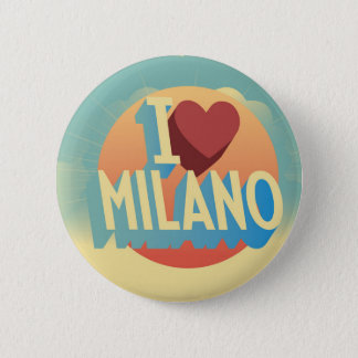 I love Milano 6 Cm Round Badge