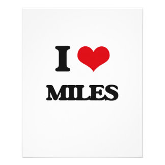 "I Love Miles 4.5"" X 5.6"" Flyer"