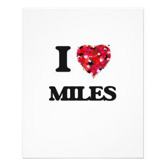 I Love Miles 11.5 Cm X 14 Cm Flyer
