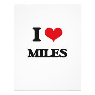 "I Love Miles 8.5"" X 11"" Flyer"