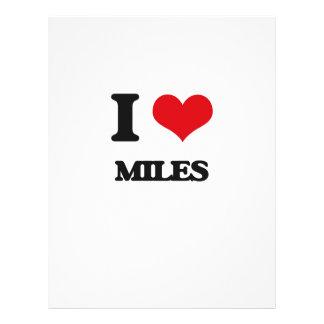 I Love Miles 21.5 Cm X 28 Cm Flyer