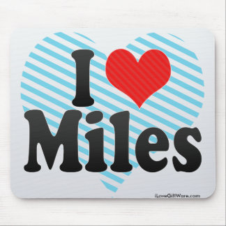 I Love Miles Mouse Pad