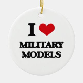 I Love Military Models Christmas Ornament
