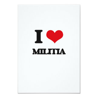 """I Love Militia 3.5"""" X 5"""" Invitation Card"""