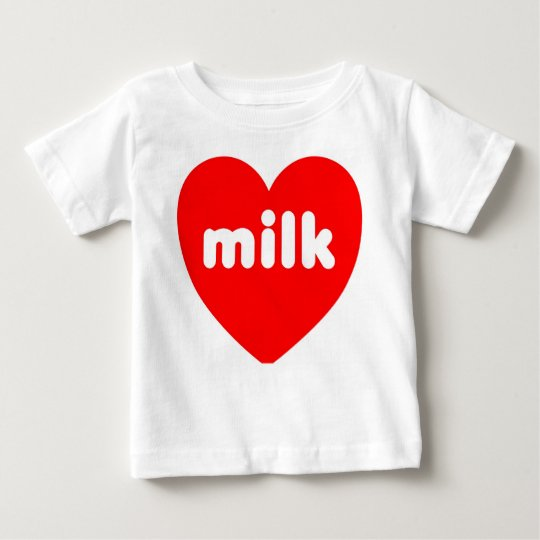 'I Love Milk' Baby T-Shirt