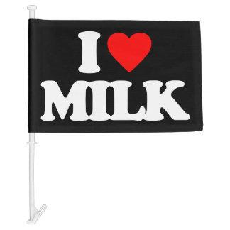I LOVE MILK CAR FLAG