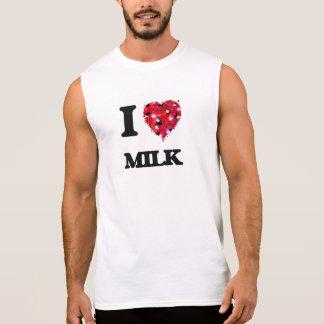 I Love Milk food design Sleeveless Shirts