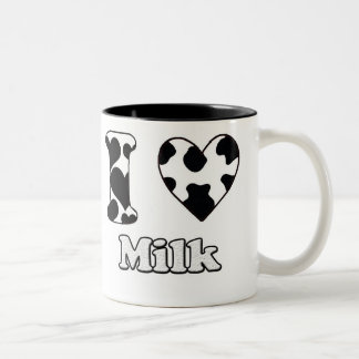 I love milk Two-Tone coffee mug