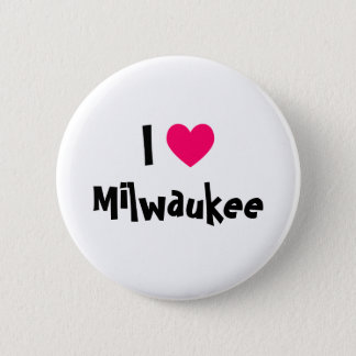 I Love Milwaukee 6 Cm Round Badge