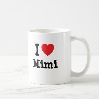 I love Mimi heart T-Shirt Basic White Mug