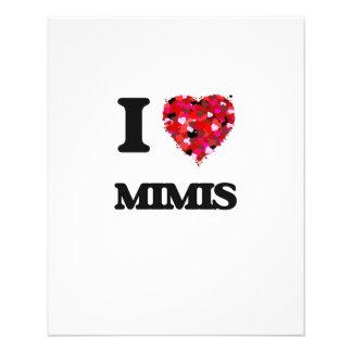 I love Mimis 11.5 Cm X 14 Cm Flyer