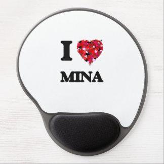 I Love Mina Gel Mouse Pad