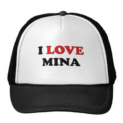 I Love Mina Hats