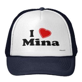I Love Mina Mesh Hat