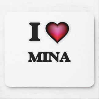 I Love Mina Mouse Pad