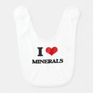 I Love Minerals Baby Bibs