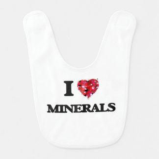 I Love Minerals Baby Bib