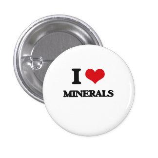 I Love Minerals Pins