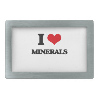 I Love Minerals Rectangular Belt Buckles