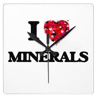 I Love Minerals Wallclocks