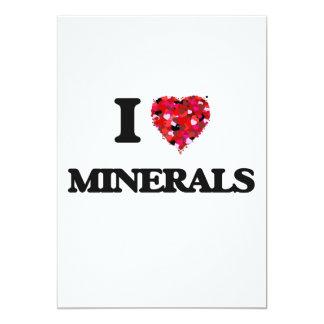 I Love Minerals 13 Cm X 18 Cm Invitation Card
