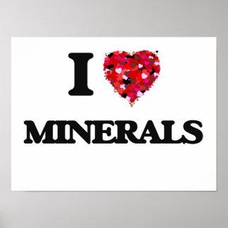 I Love Minerals Poster
