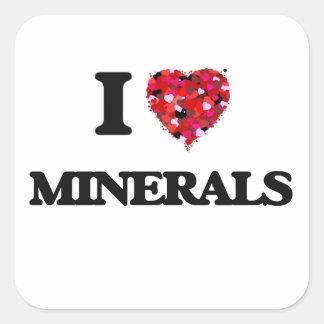 I Love Minerals Square Sticker