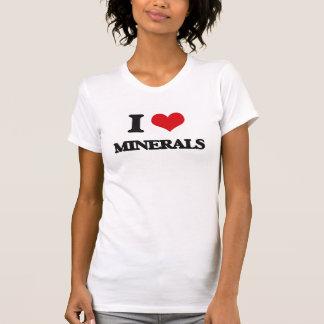 I Love Minerals Tee Shirts