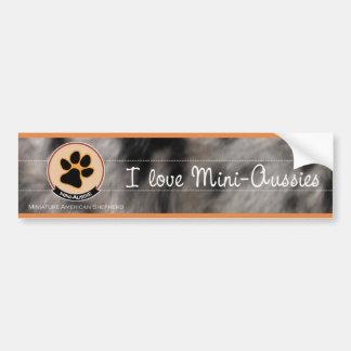 I love mini Aussies | Miniature American Shepherd Bumper Sticker