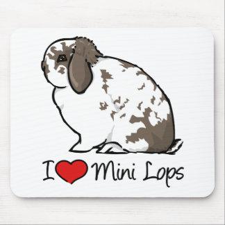 I Love Mini Lop Rabbits Mouse Pad